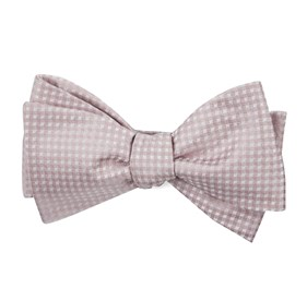 Soft Pink Be Married Checks bow ties