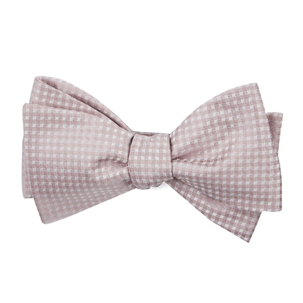 Soft Pink Be Married Checks Bow Tie
