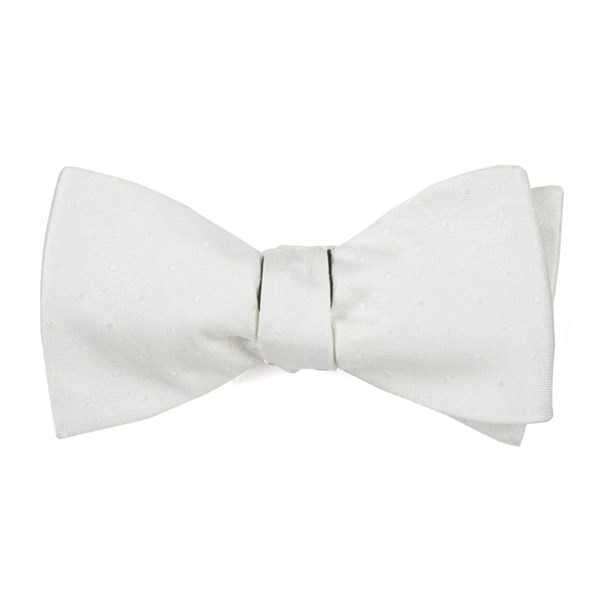 Ivory Love At First Dot Bow Tie