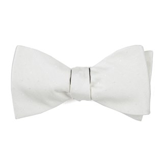 love at first dot ivory bow ties