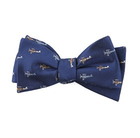 Airplane Fleet Navy Bow Ties