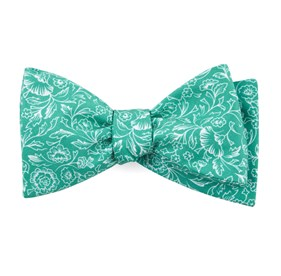 Bracken Blossom Kelly Green Bow Ties