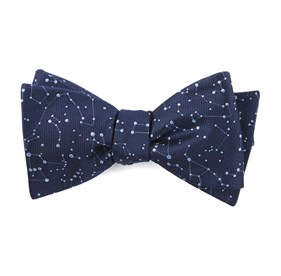 Navy Constellations bow ties