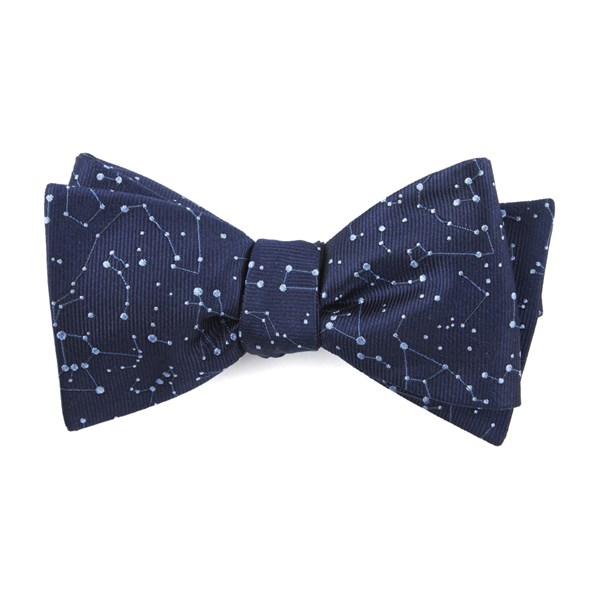 Navy Constellation Space Bow Tie