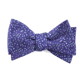 Purple Music Notes bow ties