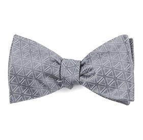 Triad Silver Bow Ties