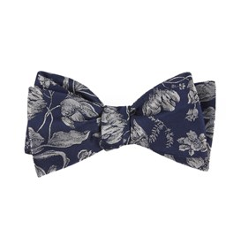 Navy Floral Swell bow ties