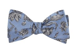 Bow Ties - Floral Swell - Light Blue