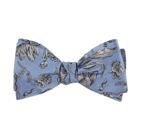 Light Blue Floral Swell bow ties