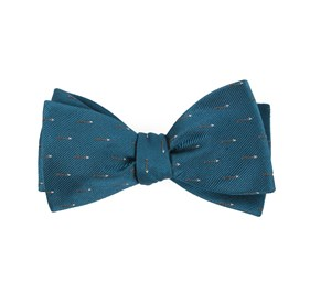 Arrow Zone Green Teal Bow Ties