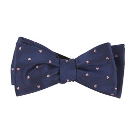 Heart To Heart Navy Bow Ties