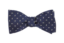 Bow Ties - Mini Skull And Crossbones - Navy