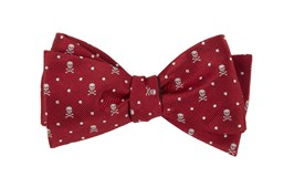 Bow Ties - Skull Dots - Apple Red