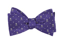 Bow Ties - Skull Dots - Violet