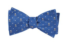 Bow Ties - Skull Dots - Royal Blue