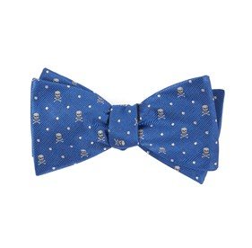 Royal Blue Skull Dots bow ties