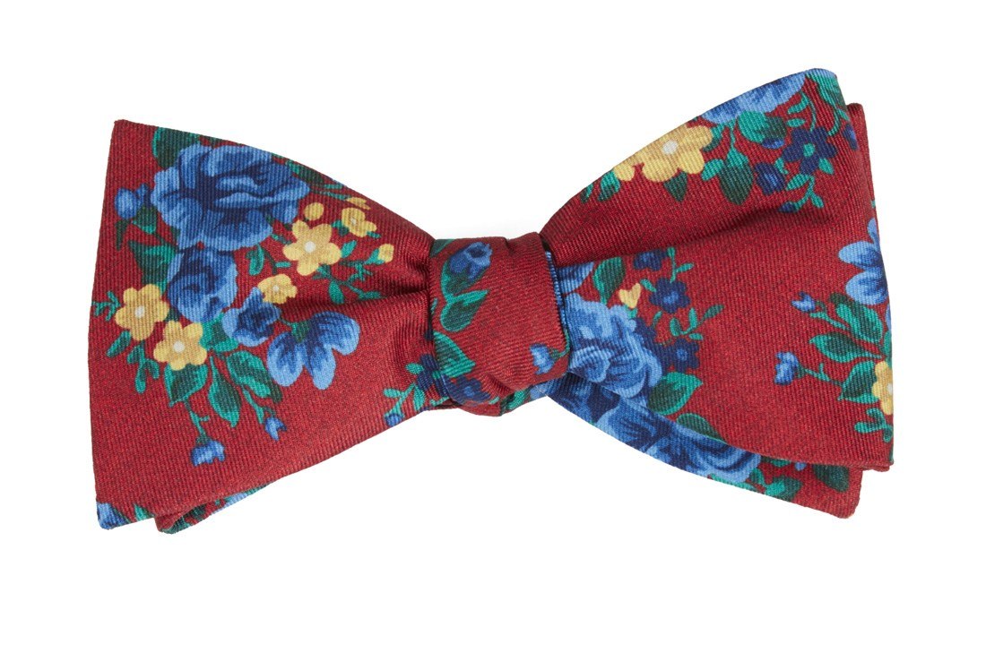 Hinterland Floral Apple Red Bow Ties