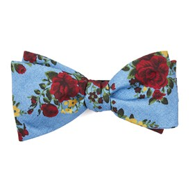Sky Blue Hinterland Floral bow ties