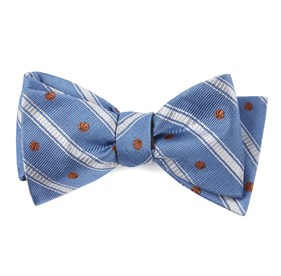 Slate Blue Basketball Stripe bow ties