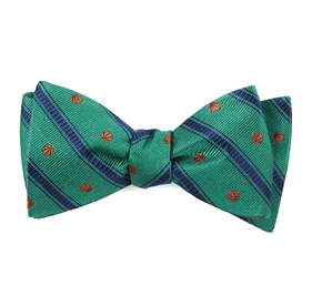 Kelly Green Basketball Stripe bow ties