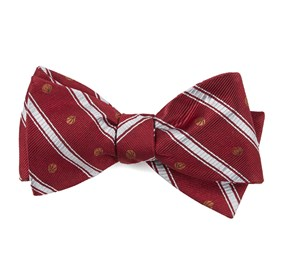Red Basketball Stripe bow ties