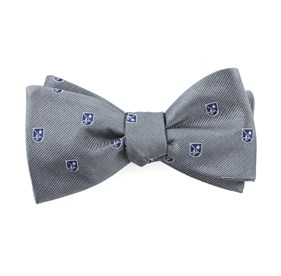 First String Crest Grey Bow Ties