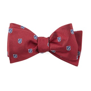 First String Crest Red Bow Tie