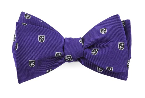 First String Crest Plum Bow Tie