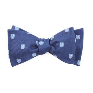 first string crest navy bow ties
