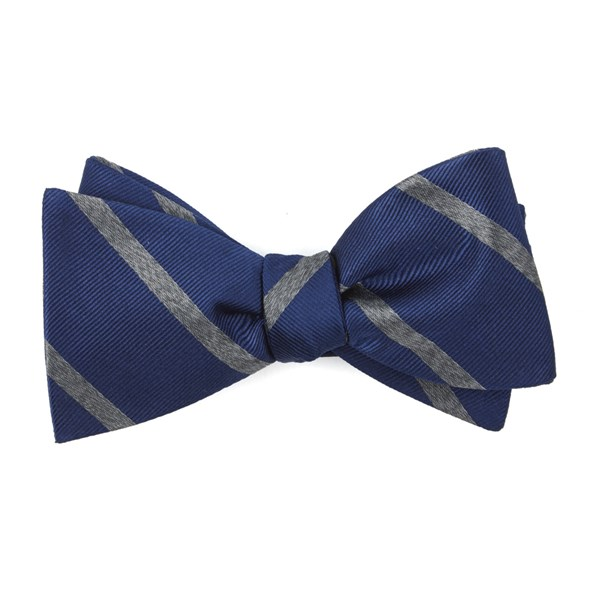 Navy Wheelhouse Stripe Bow Tie