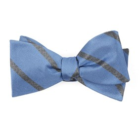 Wheelhouse Stripe Light Blue Bow Ties