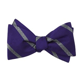 Wheelhouse Stripe Plum Bow Ties