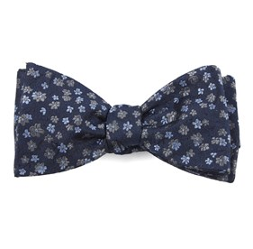 Navy Free Fall Floral bow ties