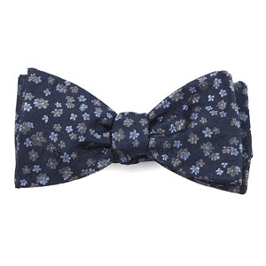 free fall floral navy bow ties