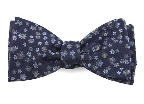 Free Fall Floral Navy Bow Tie