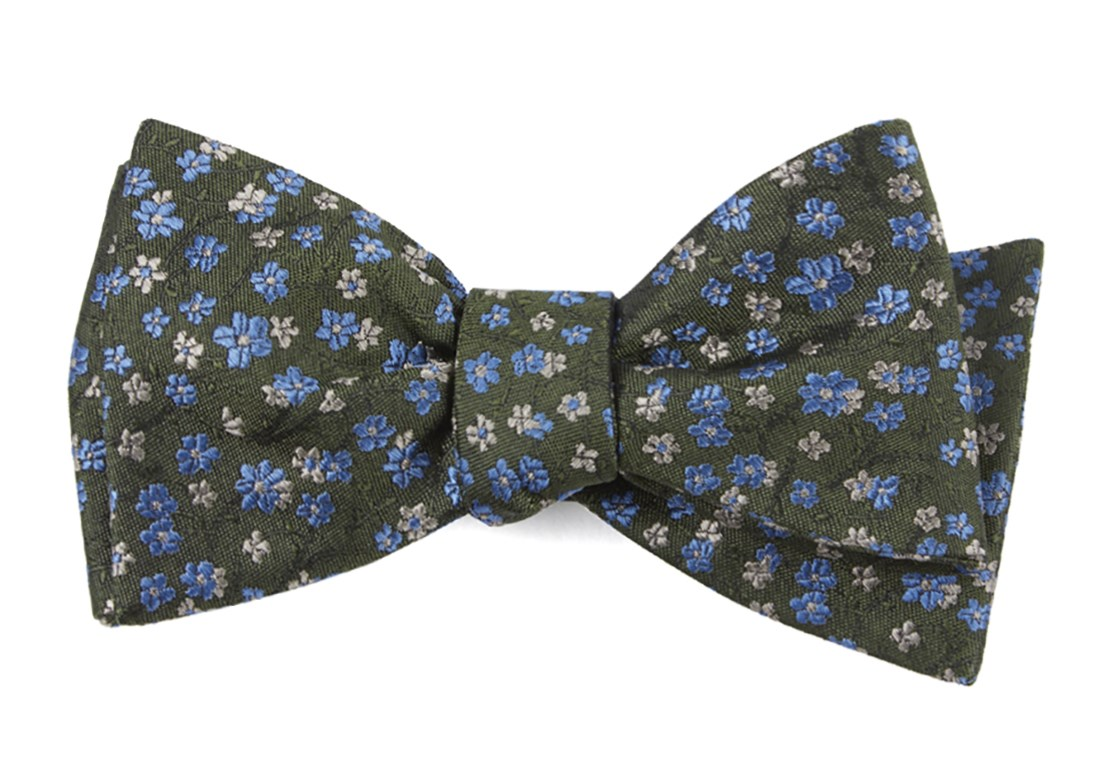 Army green free fall floral bow tie ties bow ties and pocket free fall floral army green ccuart Images