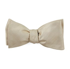Light Champagne Herringbone Vow bow ties