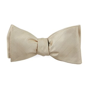 herringbone vow light champagne bow ties