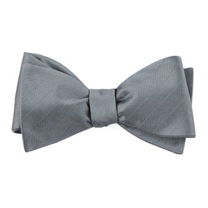 herringbone vow grey bow ties
