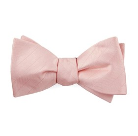 Blush Pink Herringbone Vow bow ties