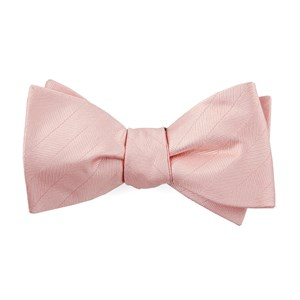 herringbone vow blush pink boys bow ties