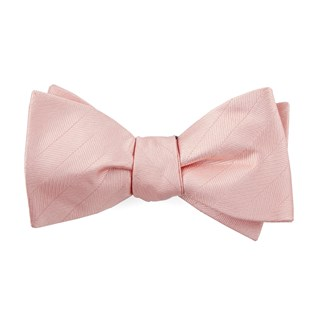 herringbone vow blush pink bow ties