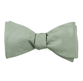 Sage Green Herringbone Vow bow ties