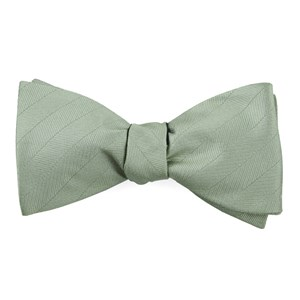 herringbone vow sage green bow ties