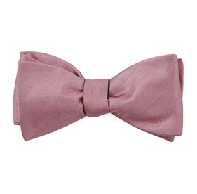 Dusty Rose Herringbone Vow bow ties