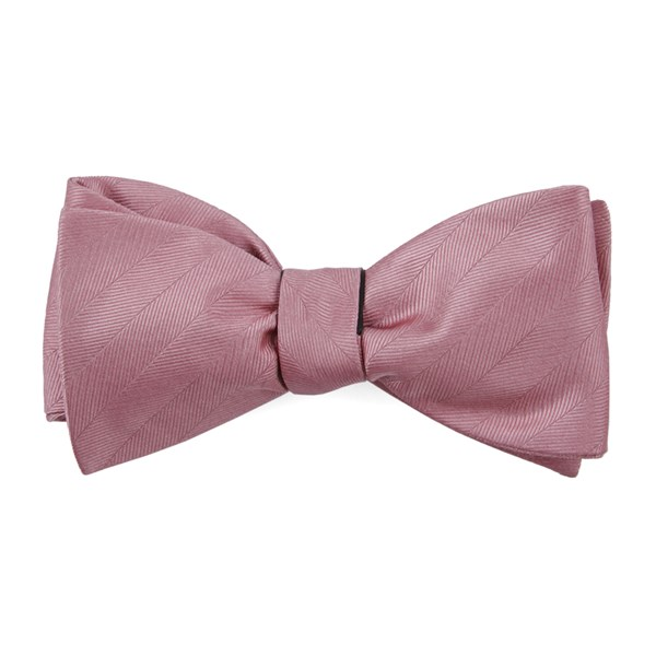 Dusty Rose Herringbone Vow Bow Tie