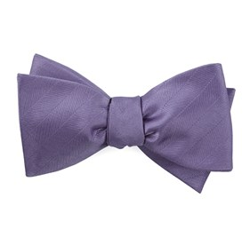 Lavender Herringbone Vow bow ties