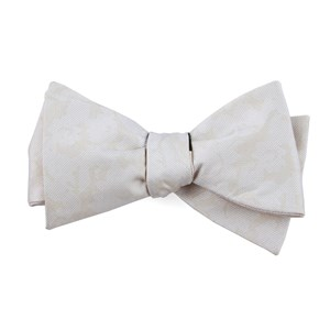 refinado floral light champagne bow ties