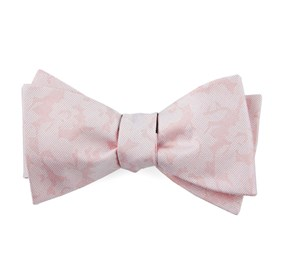 Blush Pink Refinado Floral bow ties