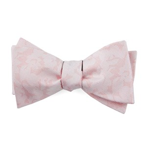 refinado floral blush pink bow ties
